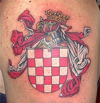 Famous Flag Images Tattoos Design