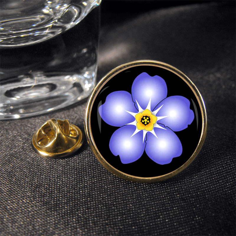 Forget Me Not Masonic Lapel Pin Badge